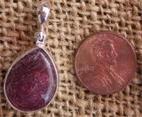 STERLING SILVER LEPIDOCROCITE IN QUARTZ PENDANT #3