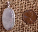 STERLING SILVER RAINBOW MOONSTONE PENDANT #21