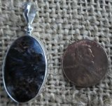 STERLING SILVER ARFVEDSONITE PENDANT #3