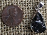 STERLING SILVER NOBLE SHUNGITE PENDANT #14