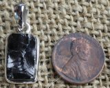 STERLING SILVER NOBLE SHUNGITE PENDANT #28