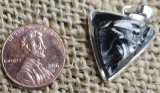 STERLING SILVER NOBLE SHUNGITE PENDANT #58
