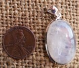 STERLING SILVER RAINBOW MOONSTONE PENDANT #29