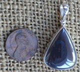 STERLING SILVER HEMATITE PENDANT #4