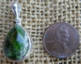 STERLING SILVER CHROME DIOPSIDE PENDANT #6