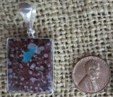 STERLING SILVER CAVANSITE PENDANT #7