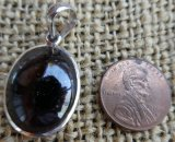 STERLING SILVER RED GARNET PENDANT #2