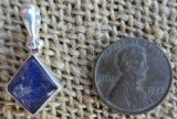 STERLING SILVER DUMORTIERITE IN QUARTZ PENDANT #15