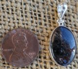 STERLING SILVER ARFVEDSONITE PENDANT #12