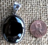 STERLING SILVER HEMATITE PENDANT #12