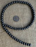 SHUNGITE BEAD STRANDS (TYPE II)--8MM RONDELLE #1