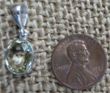 STERLING SILVER SILLIMANITE PENDANT #15