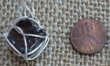 STERLING SILVER NOBLE SHUNGITE PENDANT #59