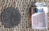 STERLING SILVER ROSE QUARTZ PENDANT #12