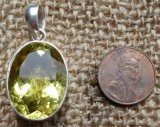 STERLING SILVER LEMON QUARTZ PENDANT #3
