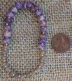 CHAROITE WITH TINAKSITE AND AGATE STRETCHY BRACELET #5