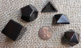 Shungite Sacred Shapes / Platonic Solids / 5 Elements (Set) (Type II)
