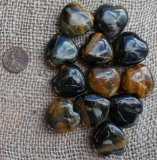 HAWK'S EYE/TIGER EYE HEARTS #1