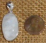 STERLING SILVER RAINBOW MOONSTONE PENDANT #7