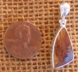 STERLING SILVER MARRA MAMBA TIGER EYE PENDANT #5