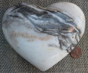 ZEBRA ARAGONITE HEART #10