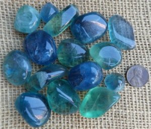 FLUORITE TUMBLES (BLUE AND BLUE/GREEN) #5