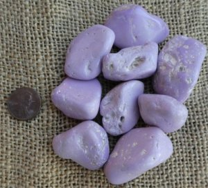 Lilac Phosphosiderite/Phosphosiderite Shapes and Tumbles