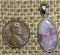 STERLING SILVER RUBELLITE IN QUARTZ PENDANT #6