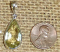 STERLING SILVER ORTHOCLASE FACETED GEMSTONE PENDANT #4